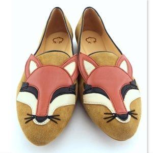 Unworn C. WONDER Foxy Fox Flats Loafers 8.5 Wide